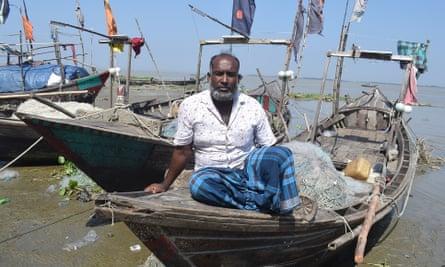 Bashir Uddin on his boat in Bhola