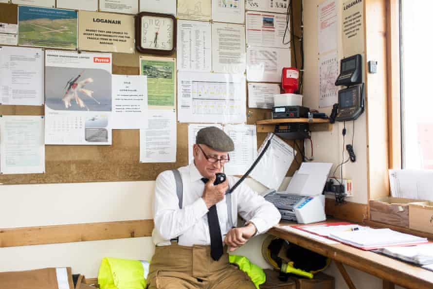 Billy Muir on air-traffic control duty