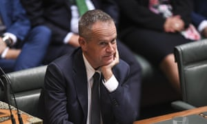 The Labor leader, Bill Shorten, as the treasurer, Scott Morrison, announced his plan for income tax cuts in the 2018 Australian federal budget.