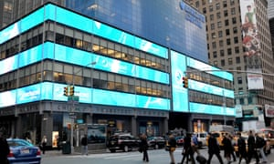 Barclays Capital Bank building near Times Square in New York