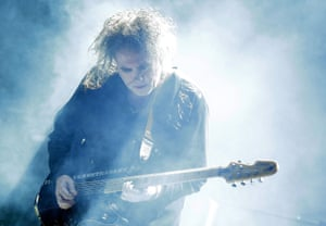 Robert Smith of the Cure performs during Splendour in the Grass 2016