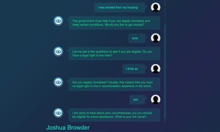 The DoNotPay chatbot has been helping people with a wide range of legal issues.