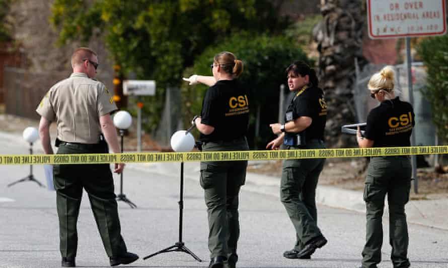 The scene of a mass shooting in San Bernardino, California.