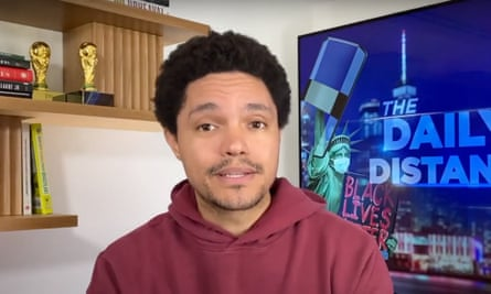 """Trevor Noah on Donald Trump: """"The only thing he avoids more than condemning white supremacists is paying taxes."""""""