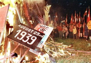 The first signs of nationalism amongst the soviet states first emerged in Kazakhstan in December 1986 and quickly spread. In August 1987, citizens of Estonia demonstrated against the Molovtov-Ribbentrop Pact which had allowed the Soviet Union to annex the three Baltic countries.