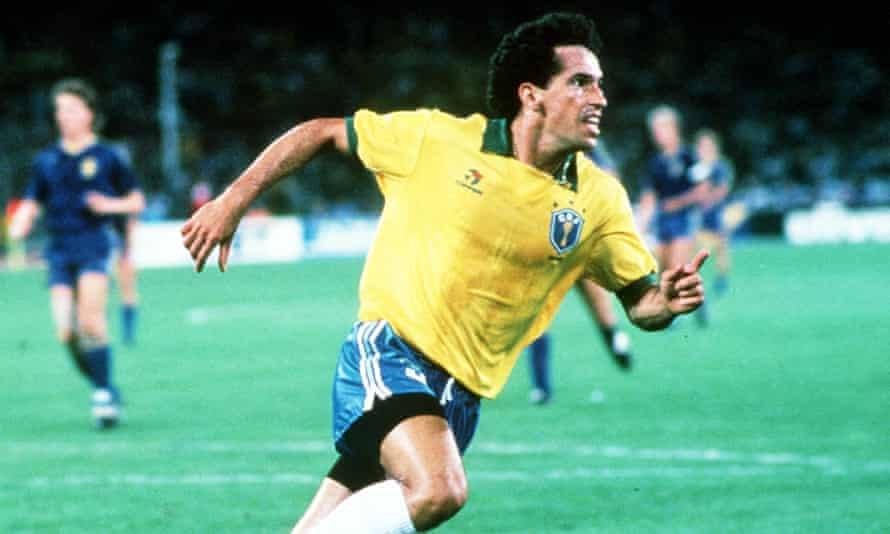 Careca celebrates his goal against Sweden in 1990.