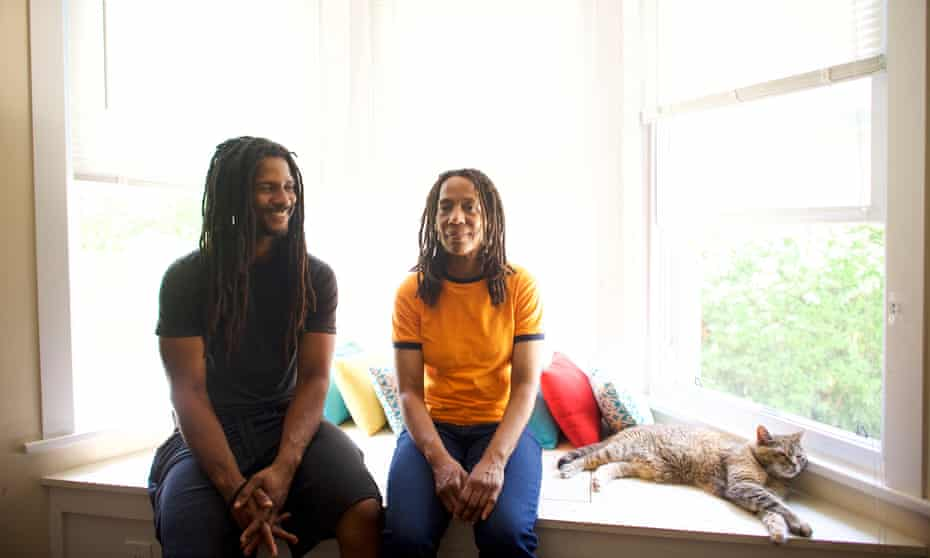 Debbie Africa, one of the radicals who was released a week ago after 40 years, and her son, Mike Africa, whom she gave birth to in her prison cell a month into her incarceration.