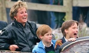 Diana with her sons, Harry and William