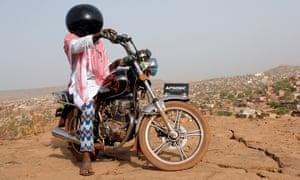 A photograph included in the Bamako festival, by Malian artist Boubacar Traoré, titled 'Inch'Allah'.