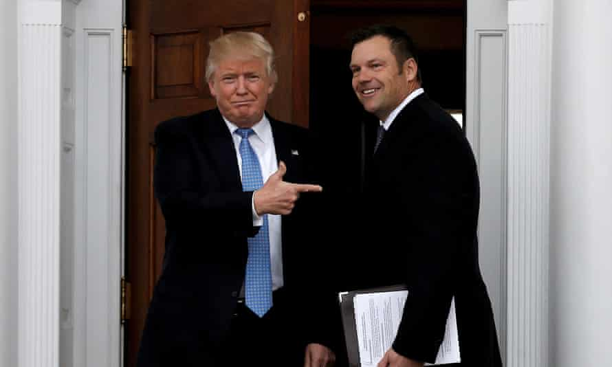 'The white supremacist guys, they love Kris Kobach because he can put on a suit, have the fancy degrees, and translate their ideas into something that is more palatable.'