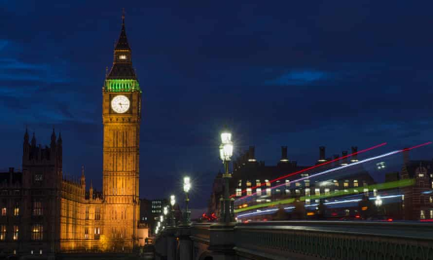 General view of the Houses of Parliament in central London,