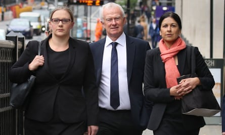 (From left) Anna Crowther, Martyn Day and Sapna Malik from Leigh Day