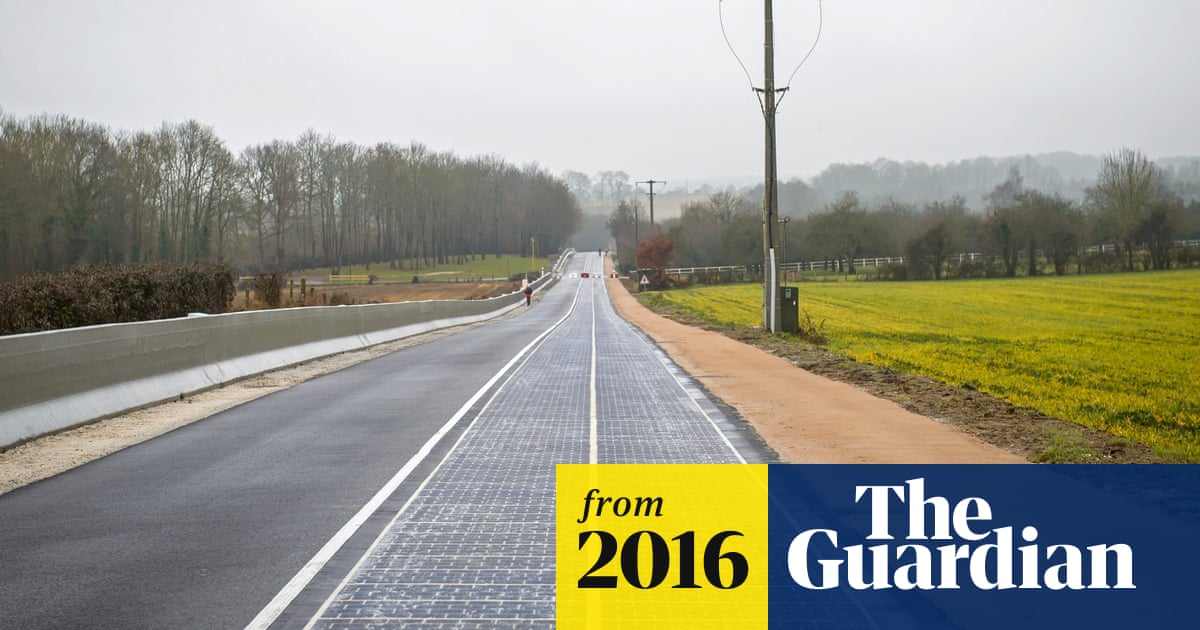World S First Solar Panel Road Opens In Normandy Village