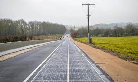 Solar panel road in Tourouvre-au-Perche