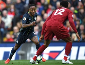 Sterling takes on Gomez.