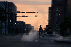 New Orleans, US A healthcare worker leaves after her shift at the University Medical Center