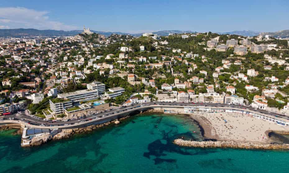 Marseille's Corniche Kennedy and the city.