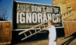 'Aids - Don't Die of Ignorance' - Government health warning poster from 1986