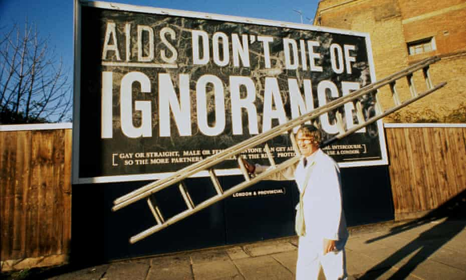 The 1986 Aids awareness campaign.
