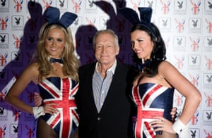 Hefner at the Playboy Club launch party in London in 2011
