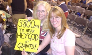 Melissa Holmes (left) waiting for her big Bon Jovi moment in 2003.