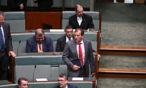 Special minister for State Mal Brough during an opposition attempt to censure him in the House of Representatives in Parliament House Canberra this morning, Wednesday 1st December 2015.