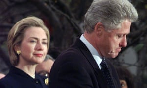 Standing by her man: Hillary and Bill Clinton in 1998.