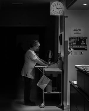 A busy midwife on the night shift