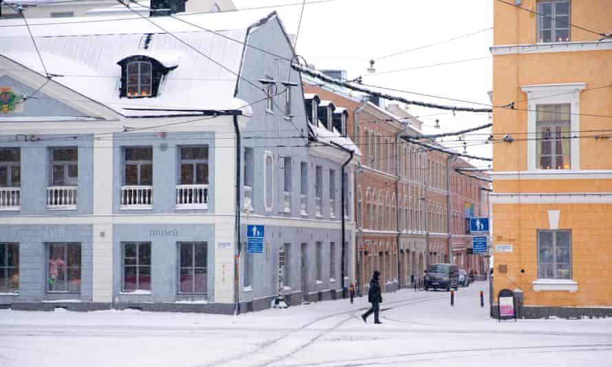Helsinki street outside the City Museum