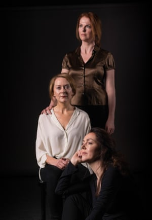 Aisling O'Sullivan, Cathy Belton and Derbhle Crotty in The Approach.