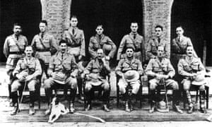 Burma Police, 1923. Orwell is standing third from left.