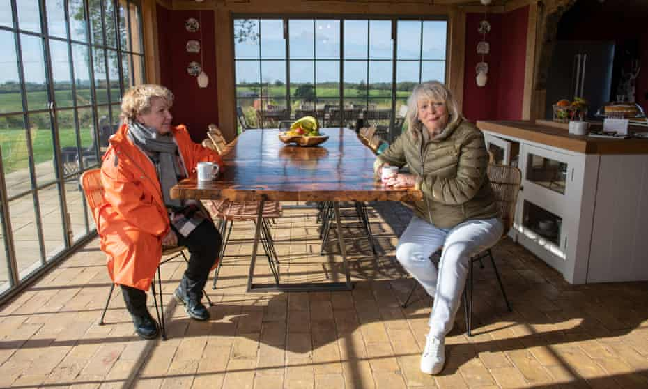 Extraordinary Escapes … Sandi Toksvig and Alison Steadman visit Moat Cottage on the Wilderness Reserve in Suffolk.