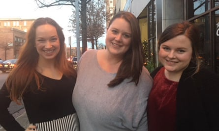 From left to right: Jordan Crenshaw,28, Jessica Rager, 28 and Amy Hayes, 29.