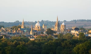 The 'dreaming spires' of Oxford University.