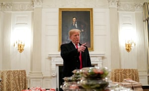 Abraham Lincoln painting and Trump