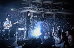 Band the 1975 at London's Royal Albert Hall in April 2014.