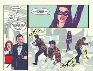 A panel from Batman  '66 Meets John Steed and Mrs Peel.