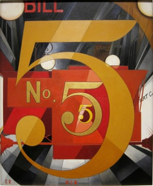 Charles Demuth's I Saw the Figure 5 in Gold.