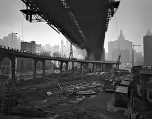 View from FDR Drive downtown, 1964, New York