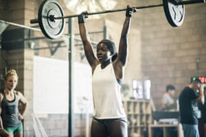 A CrossFit class