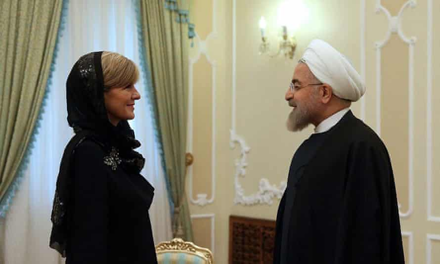 Julie Bishop and Iranian President Hassan Rouhani