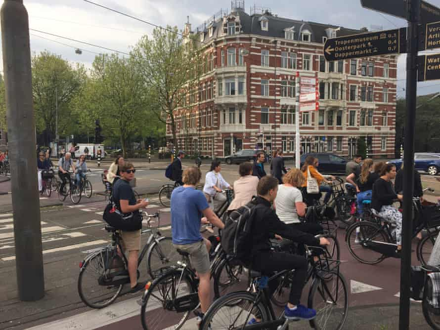 Alexanderplein, a busy intersection near Amsterdam's centre and a popular commuter route.