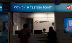 Covid Testing Point at Athens International Airport.