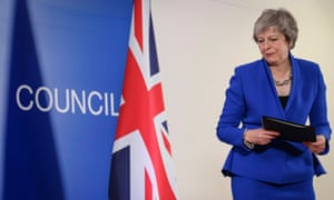 Theresa May in Brussels, 27 November.