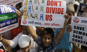 A protest against the citizenship amendment bill after Friday prayers in Ahmadabad.