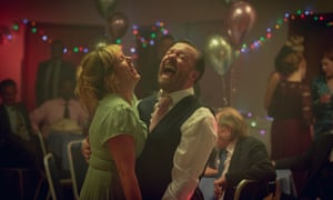 Kerry Godliman and Ricky Gervais in After Life.