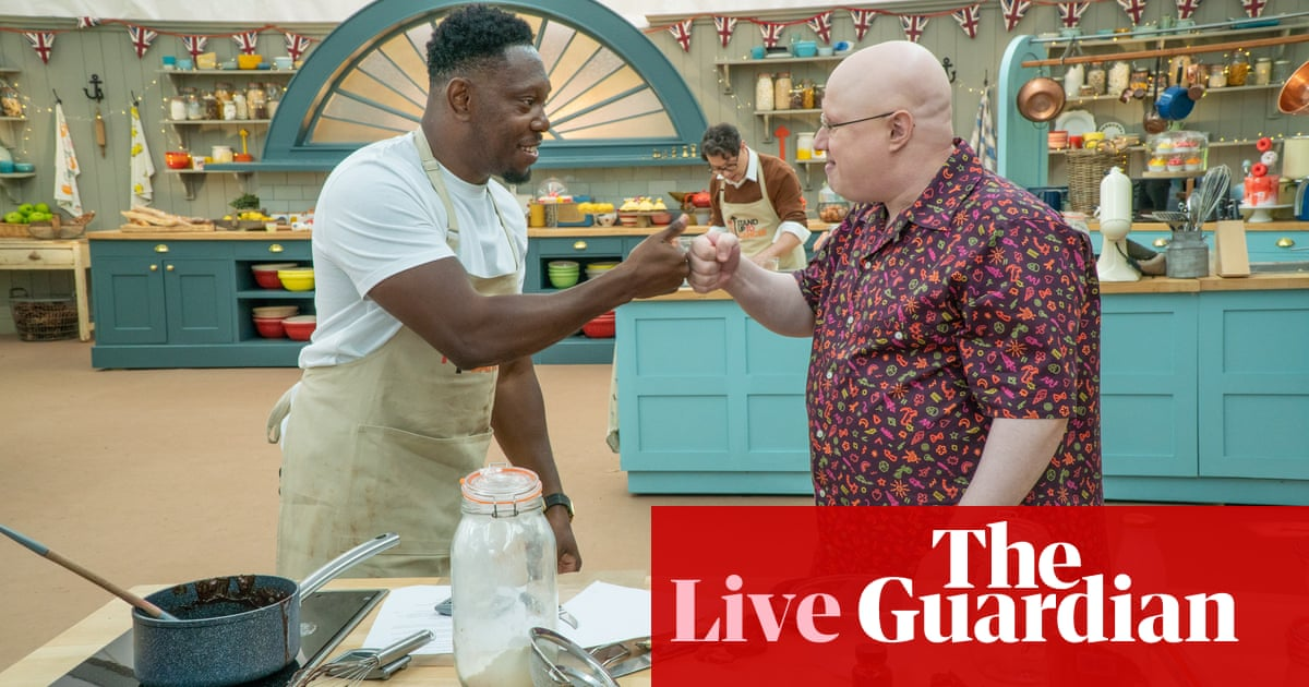 The Great Celebrity Bake Off 2021: episode three – live