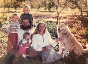 Jack and Teri McCall, centre, with their family in1982.