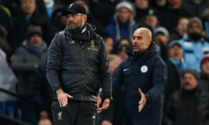 Jürgen Klopp and Guardiola will face each other once more on Sunday.