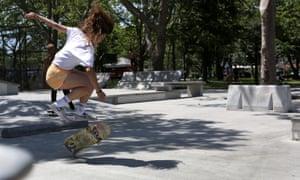 Pastoral innocence … Rachelle Vinberg as Camille in Skate Kitchen.